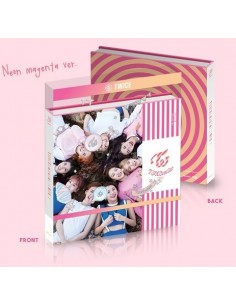 TWICE 3rd Mini Album - COASTER CD + Poster [Neon magenta Ver] - Special Pre-Order Gifts