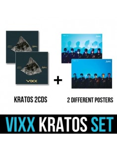 VIXX 3rd Mini Album - KRATOS 2CDs + 2 Different Posters