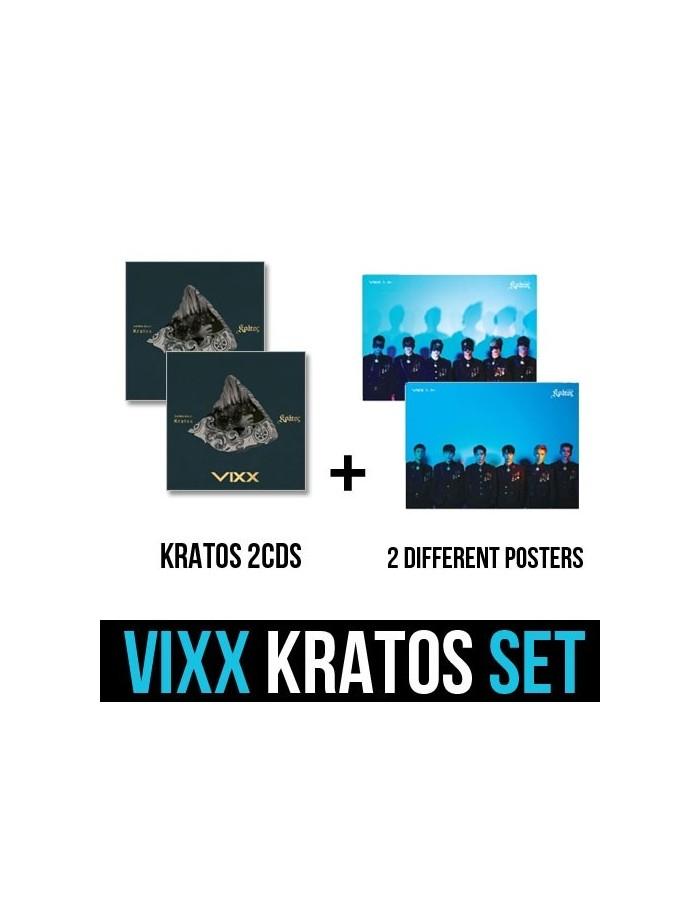 VIXX 3rd Mini Album - KRATOS 2CDs + 2 Different Posters