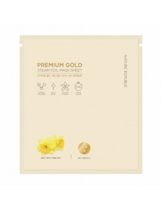 [Nature Republic] Premium Gold Steam Foil Mask Sheet 30g