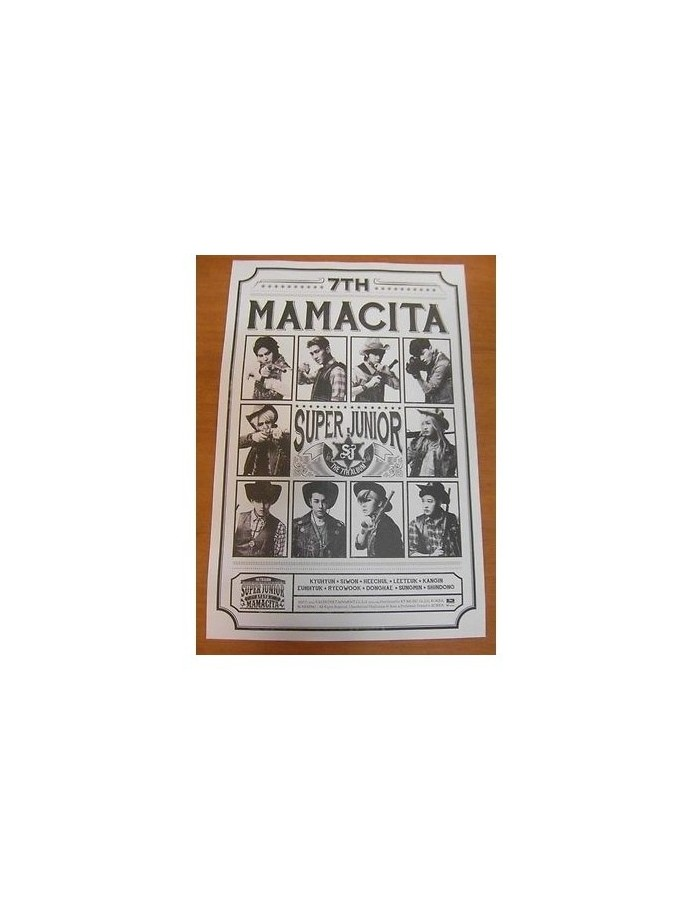 Super Junior 7th Album -Mamacita Poster