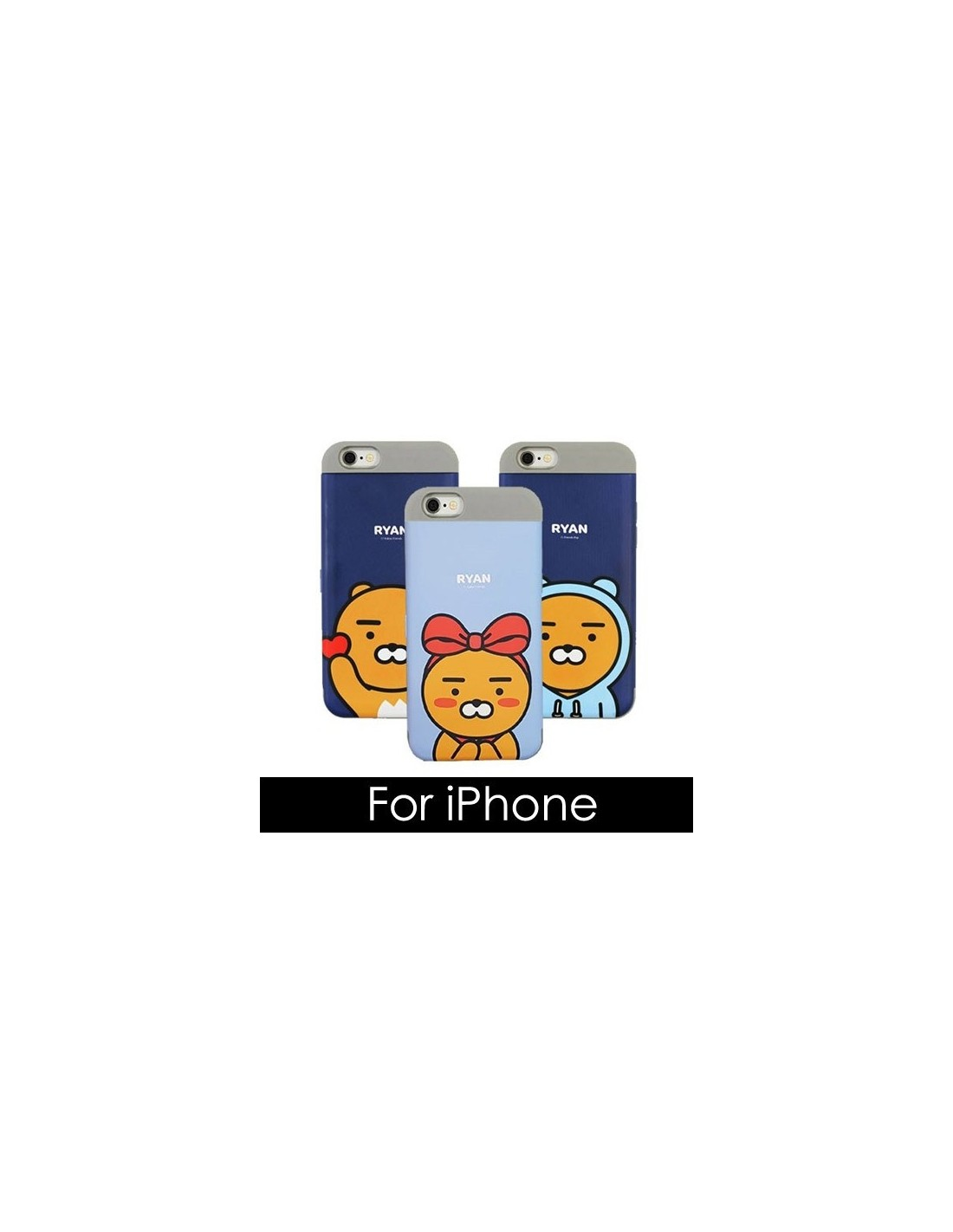 a81a53e76 [ KAKAO FRIENDS ] KAKAO Cutie Card Double Bumper Case - For iPhone