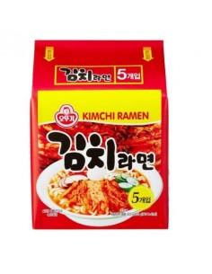 OTTOGI INSTANT KOREAN NOODLE - KIMCHI RAMEN (김치라면)  A Bunch of Five Ramens (120g * 5)