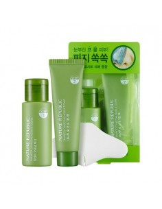[ Nature Republic ] Bamboo Charcoal Nose & T-Zone Pack