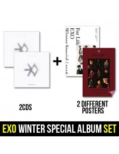 [SET] EXO - WINTER SPECIAL ALBUM, 2016 (2CD on 1Pack) 2CDS + 2 Different Posters