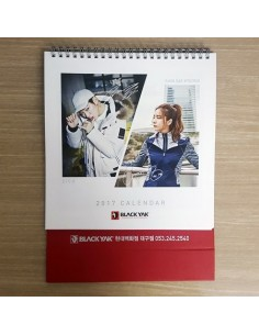 BLACK YAK Promotional 2017 Desk Calendar with ZICO, SHIN SAE KYEONG