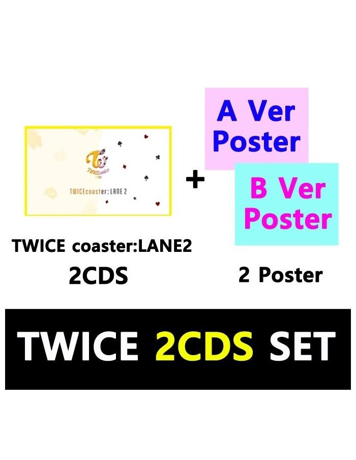 TWICE Special Album - COASTER : LANE2 (SET) CD + Poster [Pre-Order]
