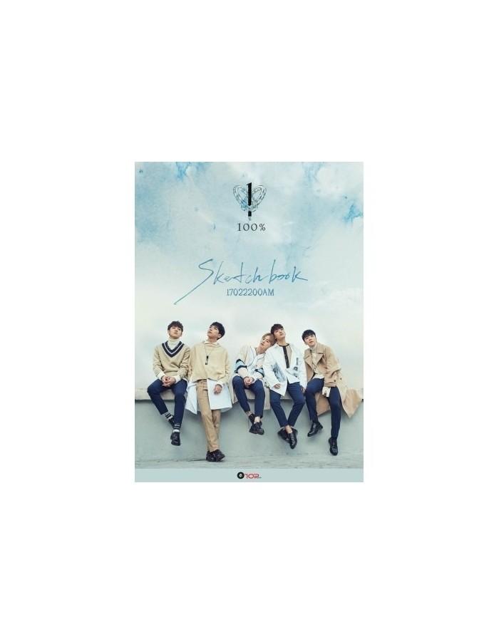 100PERCENT 4th Mini Album - SKETCHBOOK CD + Poster