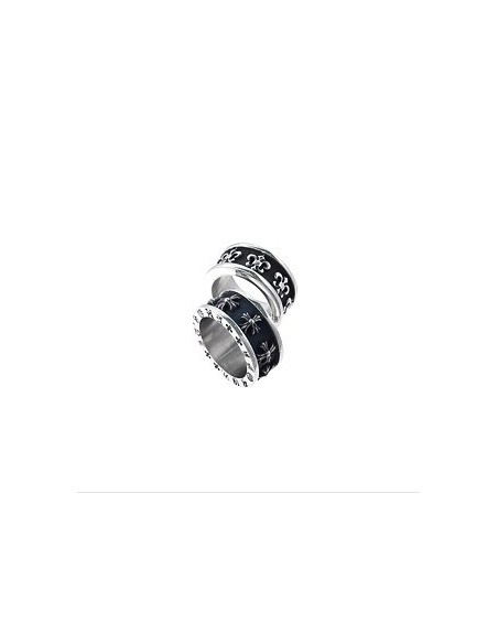 [BB74] Bigbang GD style Black Peace Hearts Ring