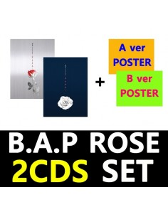 [SET]BAP 6th Single Album - ROSE(SET) CD + 2Poster