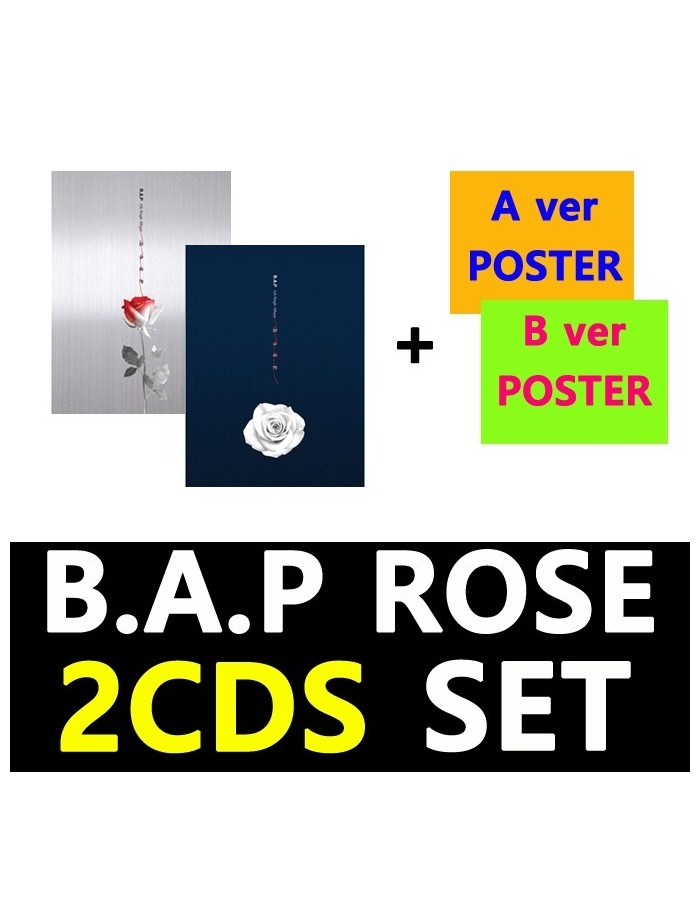 [SET]BAP 6th Single Album - ROSE(SET) CD + 2Poster