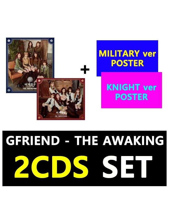 [SET]GFRIEND 4th Mini Album- THE AWAKENING (SET) CD + 2Poster