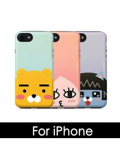 [ KAKAO FRIENDS ] KAKAO Face Pearl Double Bumper Case - For iphone