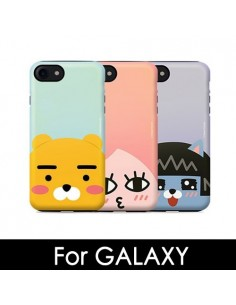 [ KAKAO FRIENDS ] KAKAO Face Pearl Double Bumper Case - For Galaxy