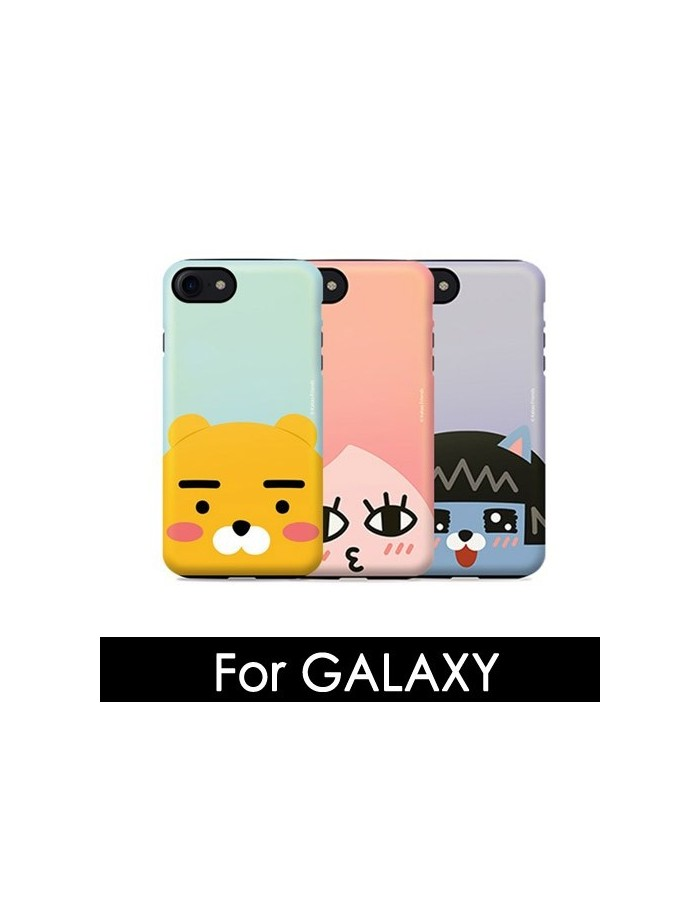 [ KAKAO FRIENDS ] KAKAO Face Pearl Double Bumper Case - For Galaxy
