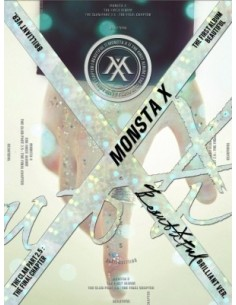 MONSTA X 1st Album - BEAUTIFUL (BRILLIANT ver.) CD + 2Posters