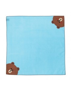 [LINE FRIENDS Goods] Brown Cotton Handkerchief