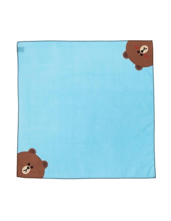[LINE FRIENDS Goods] Brown Cotton Handkerchief