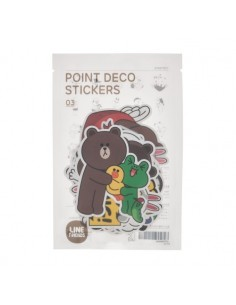 [LINE FRIENDS Official Goods] Point deco Sticker 3