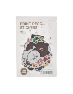 [LINE FRIENDS Official Goods] Point deco Sticker 5