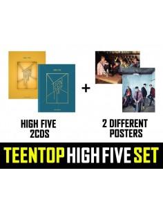 [SET] TEENTOP 2nd Album - HIGH FIVE 2CD + 2Poster