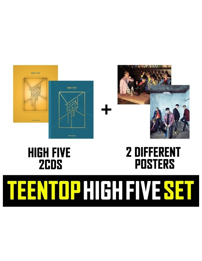 [SET] TEENTOP 2nd Album - HIGH FIVE 2CD + 2Poster