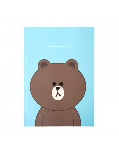 [LINE FRIENDS Official Goods] Brown Line Note B5