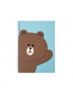 [LINE FRIENDS Official Goods] Brown Line Spring Note A5