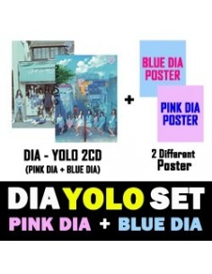 [SET] DIA 2th Album - YOLO [PINK+BLUE] 2CD + 2 Different Poster
