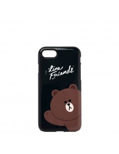 [LINE FRIENDS Goods] Navy Hello Brown iPhone7 Glossy Case