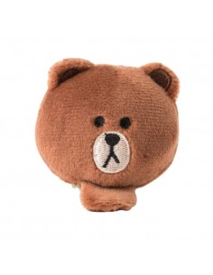 [LINE FRIENDS Goods] Brown Face Doll Hairpin
