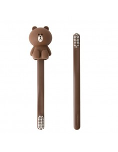 [LINE FRIENDS Official Goods] Brown Toothbrush Holder Set