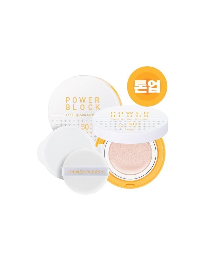 [A'PIEU] Power Block Tone Up Sun Cushion SPF50+/PA++++ 14g