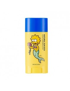 [Thefaceshop] The Simpsons Edition : Natural Sun Eco Clear Suncreen Stick SPF50 PA+++