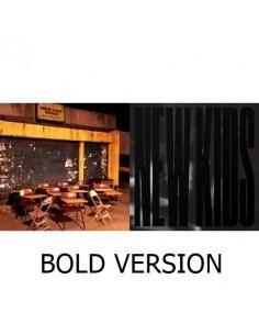 iKON Single Album - NEW KIDS : BEGIN CD + Poster [BOLD Version]