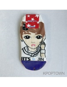 1 Pair of Character Socks - BTS Jin Ver.2