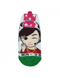 1 Pair of Character Socks - iKON Jin-Hwan