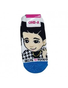 1 Pair of Character Socks - iKON B.I