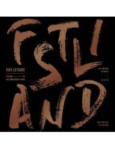 FTISLAND 10th Anniversary Album - OVER 10 YEARS CD + Poster
