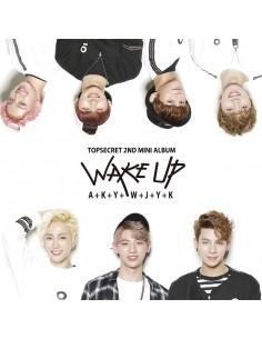 TOPSECRET 2nd Mini Album - WAKE UP CD + Poster