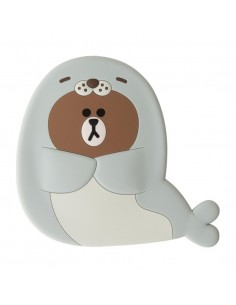 [LINE FRIENDS Goods] Happy Brown Hand Mirror