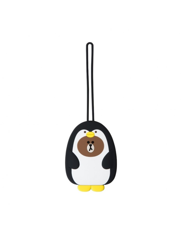 [LINE FRIENDS Official Goods] Pengo Brown Luggage Tag