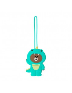 [LINE FRIENDS Official Goods] Dino Brown Luggage Tag