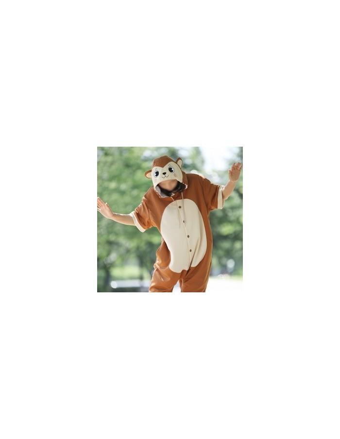 [PJA175] Animal Short Sleeve Pajamas - Brown Monkey