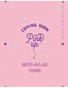 Apink 6th Mini Album - Pink UP (A Ver) CD + Poster