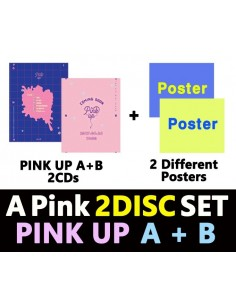 [SET] Apink 6th Mini Album - Pink UP (A + B Ver) 2 CD + 2 Poster