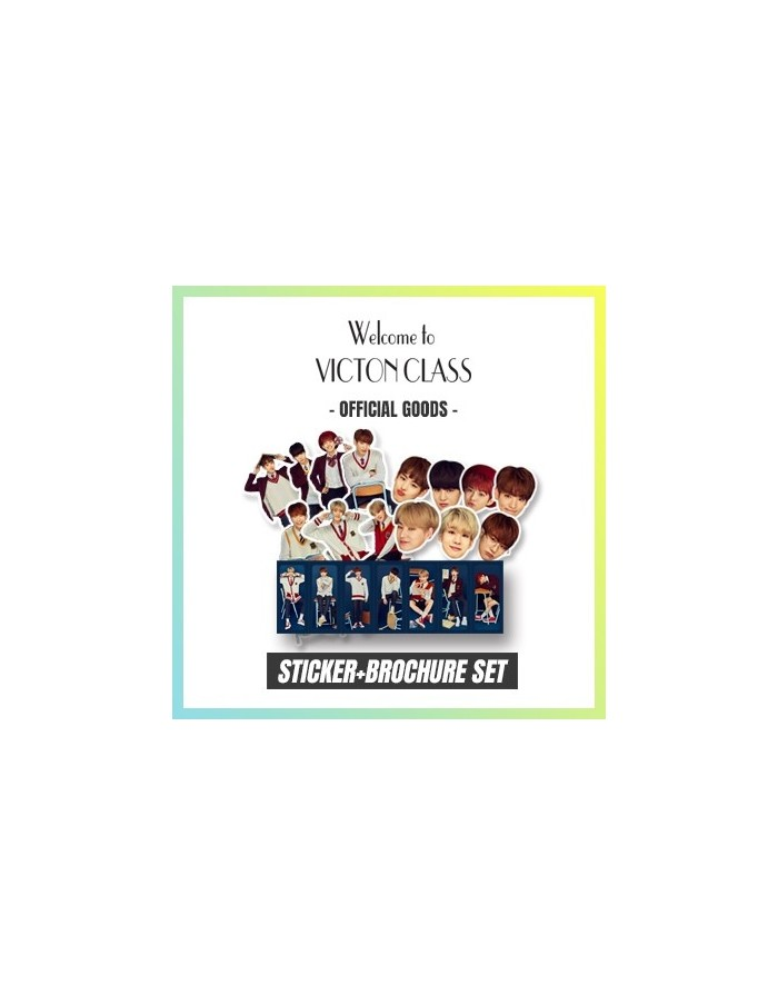 """VICTON 1st Fanmeeting """"Welcome to Victon Class"""" Goods :Sticker Brochure Set"""