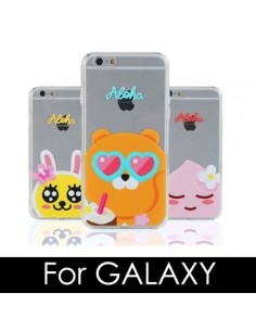 [ KAKAO FRIENDS ] KAKAO ALOHA Jell-Hard Phone Case - FOR Galaxy