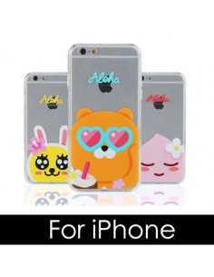 [ KAKAO FRIENDS ] KAKAO ALOHA Jell-Hard Phone Case - FOR iPhone