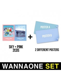 [SET] WANNA ONE 1st Mini Album - 2CD (SKY ver + Pink Ver) + 2 Different Posters